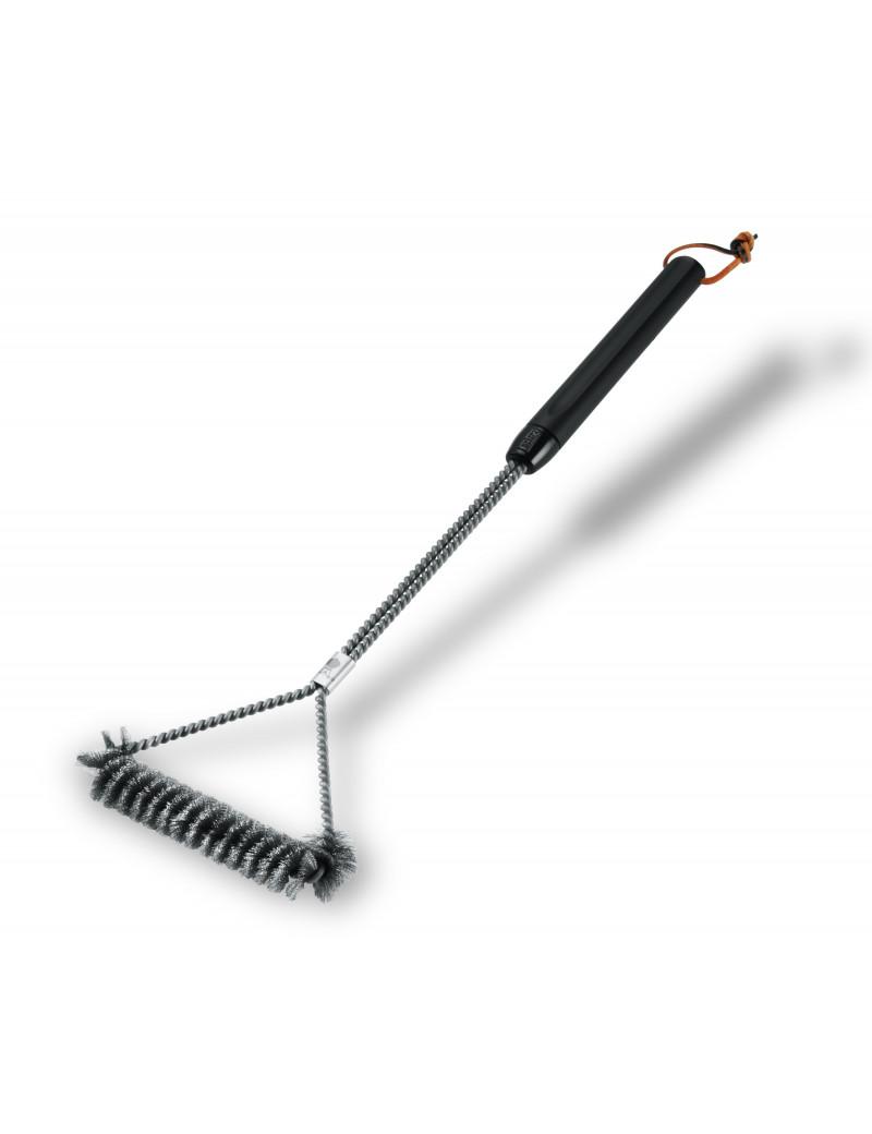 Щітка Т-подібна для очищення барбекю з пластмасовою ручкою 53 см