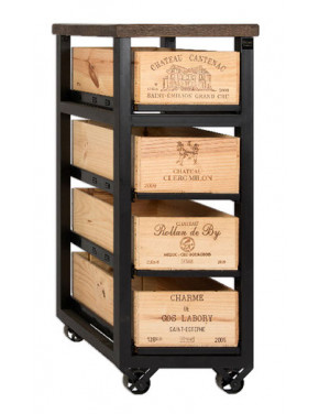 Hobbs Cabinet 4 drawer W Шкаф высокий на 4 ящиков на колесах
