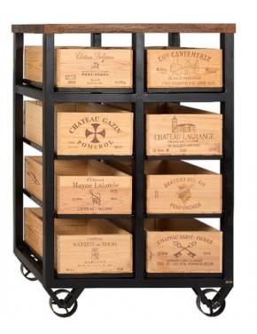 Hobbs Cabinet 8 drawer W Шкаф высокий на 8 ящиков на колесах