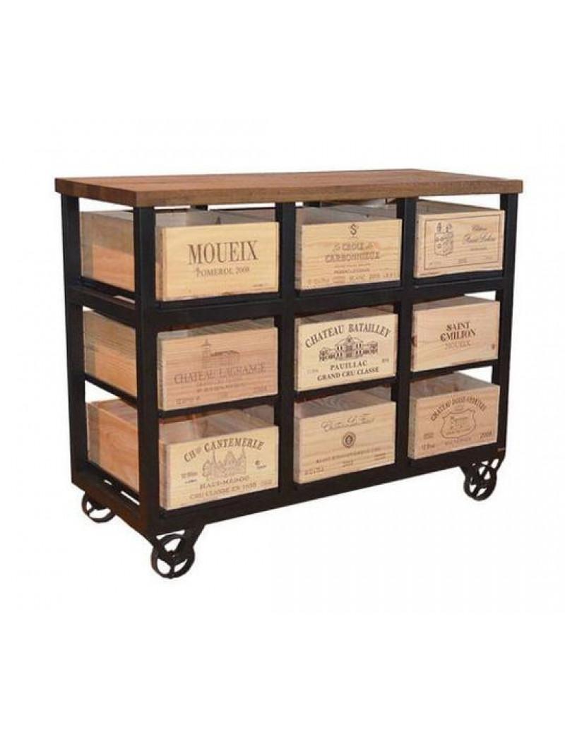 Hobbs Cabinet 9  Шкаф высокий на 9 ящиков на колесах
