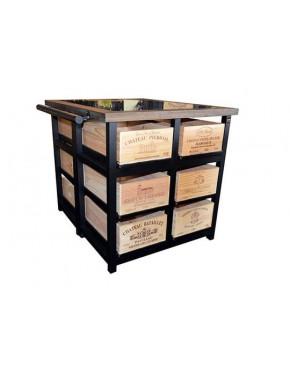 Hobbs Cabinet 12 drawer W Шкаф высокий на 12 ящиков на колесах